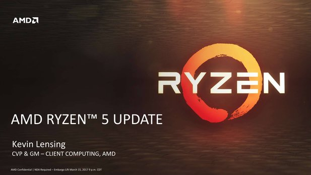AMDs Ryzen 5 kommt am 11. April 2017 in den Handel.