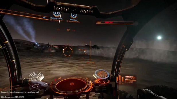 Elite: Dangerous - Gameplay-Video zeigt Bodenvehikel-Angriff