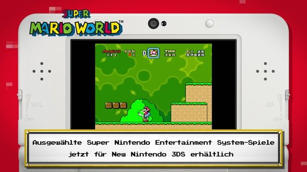 Nintendo New 3DS - Video stellt Virtual-Console-SNES-Spiele vor