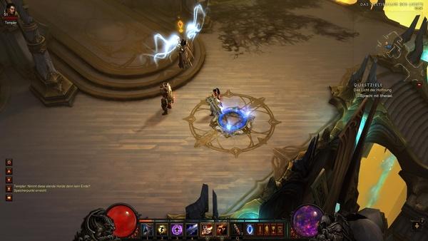 Diablo 3 - Komplettlösung : Itherael berichtet uns von Auriels Entführung.