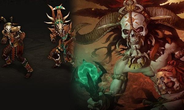 Diablo 3 - Klassenguide : Die Körperbemalung des Hexendoktor-Novizen ist ein guter Schutz.
