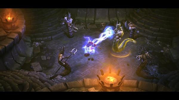 Diablo 3 - Komplettlösung : Leahs Mutter Adria in dämonischer Gefangenschaft.