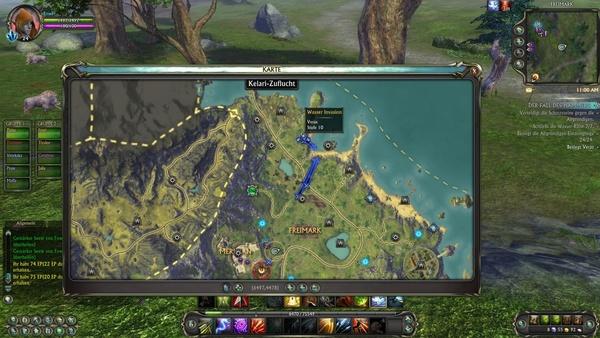 RIFT : Hilfreich bei zonenweiten Events: Die Karte mit dem Standort des Boss. Erreichen Sie ihn so schnell wie möglich!