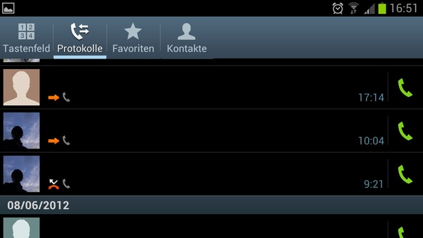 Bilder zu Samsung Galaxy S3 - Screenshots