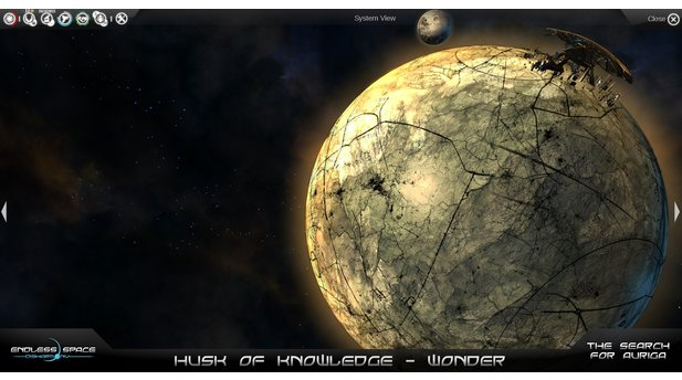 <b>Endless Space</b><br/>Screenshot aus dem DLC »Search for Auriga«