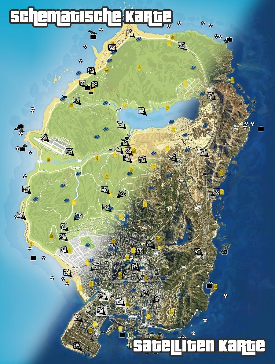gta 5 karte Map: Atommüll, U Bootteile, Pakete & mehr   GameStar