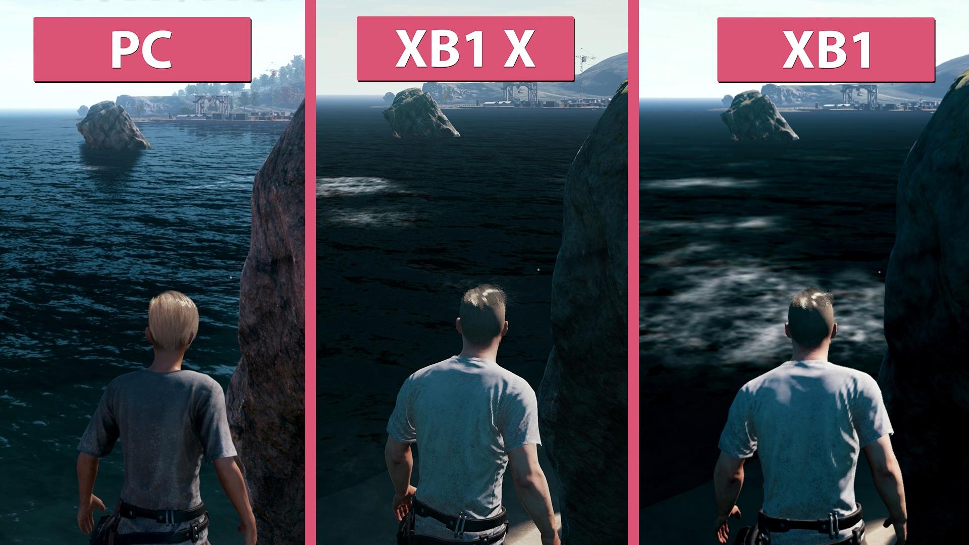pubg pc gegen xbox one x und xbox one im grafik und. Black Bedroom Furniture Sets. Home Design Ideas