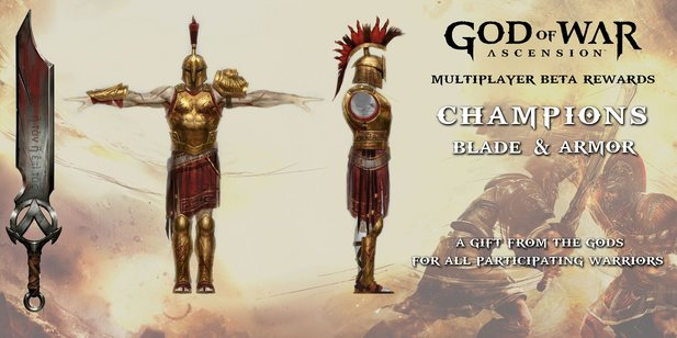 So sieht das Champions-Set von God of War: Ascension aus.