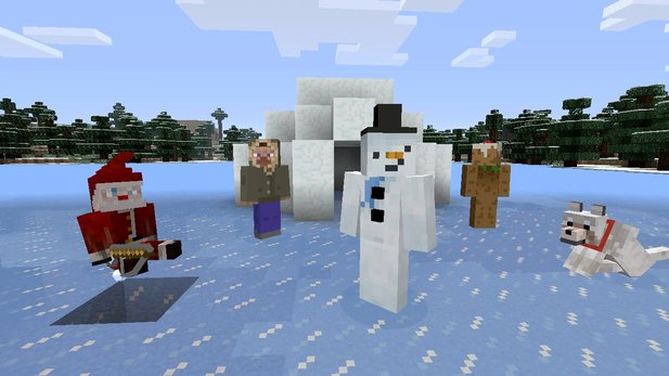 Winter ists. Auch in Minecraft.