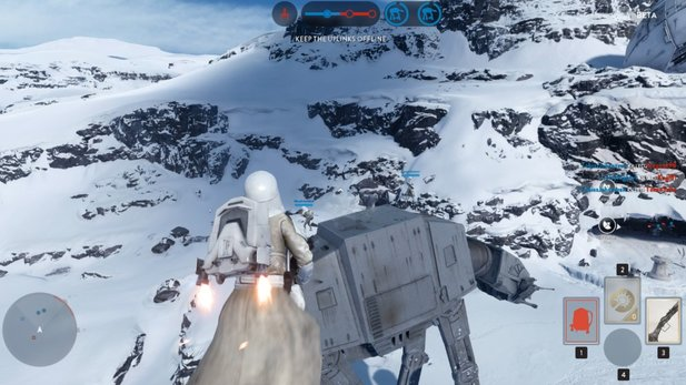 Star Wars: Battlefront - Gameplay-Video zeigt Ritt auf dem AT-AT