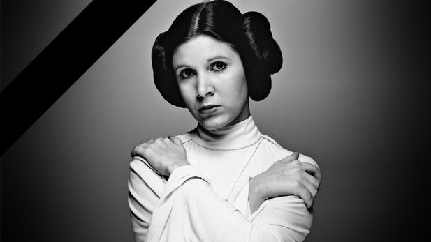 Carrie Fisher (1956-2016) in ihrer Paraderolle als Prinzessin Leia.