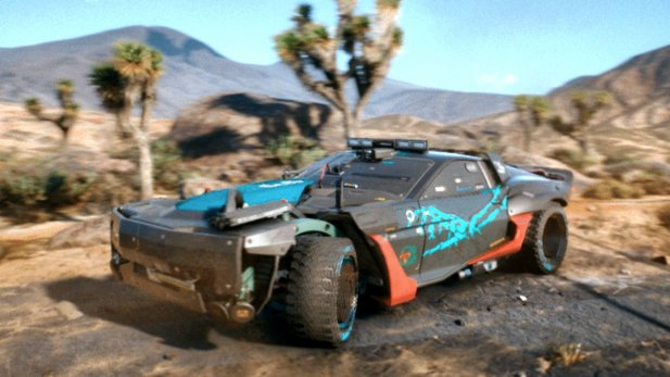 This new bolide serves as a mobile base for you in the »Badlands« of Cyberpunk 2077.