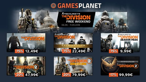 The Division Free Weekend auf Gamesplanet.de.