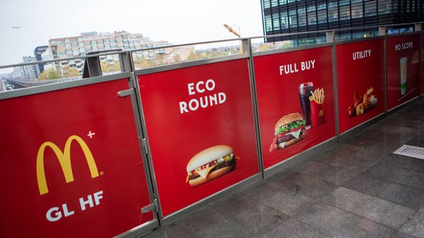 McDonalds-Werbung in Kopenhagen (via Louis Pilmark)