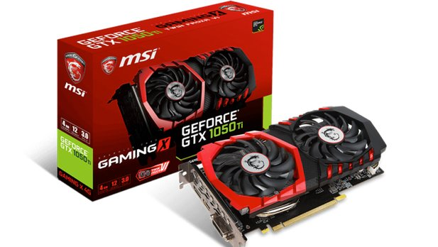 MSI GeForce 1050 Ti Gaming X