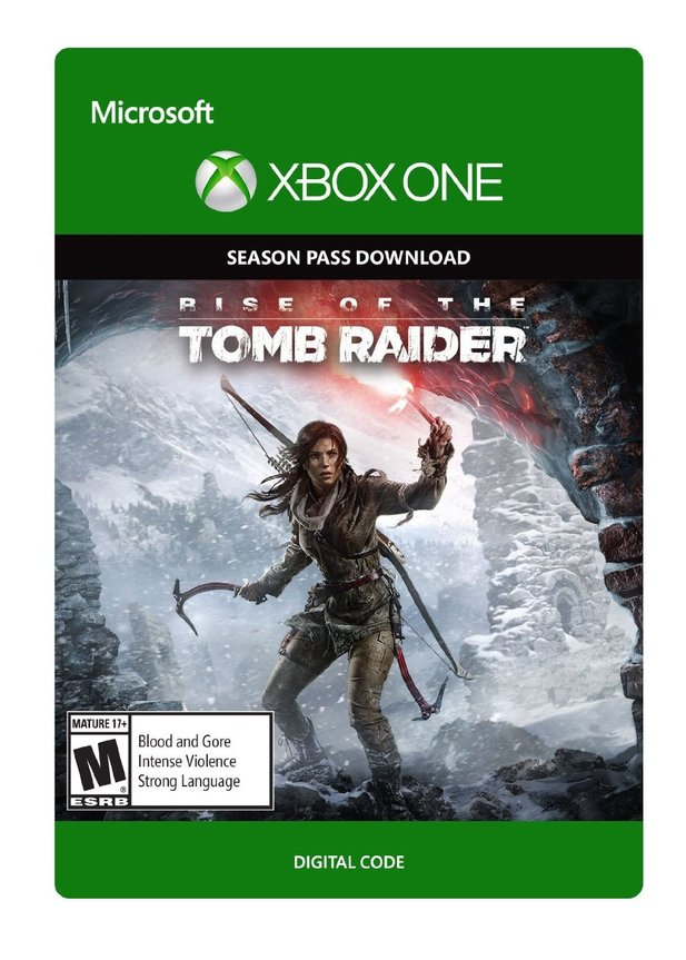 Packshot des Rise of the Tomb Raider Season Pass für die Xbox One auf Amazon