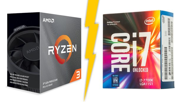 Both the new Ryzen 3 processors and Intel's Core i7 7700K, which is about three years old, offer four cores and eight threads.