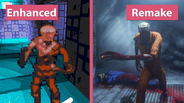 System Shock - Enhanced Edition und 2016 Remake (Demo) im Grafik-Vergleich
