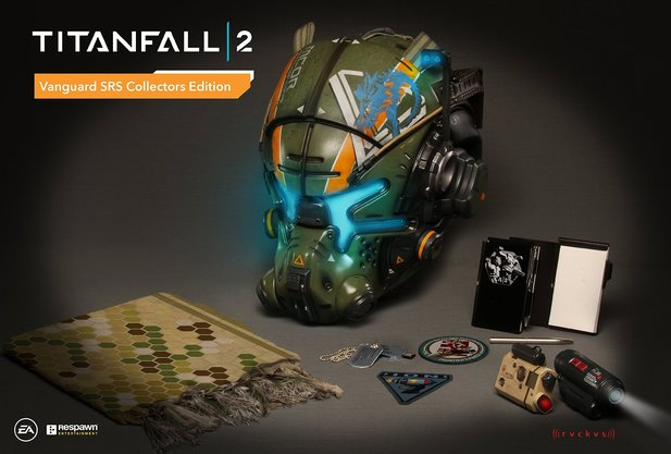 Die Inhalte der Titanfall 2 Vanguard SRS Collector's Edition.