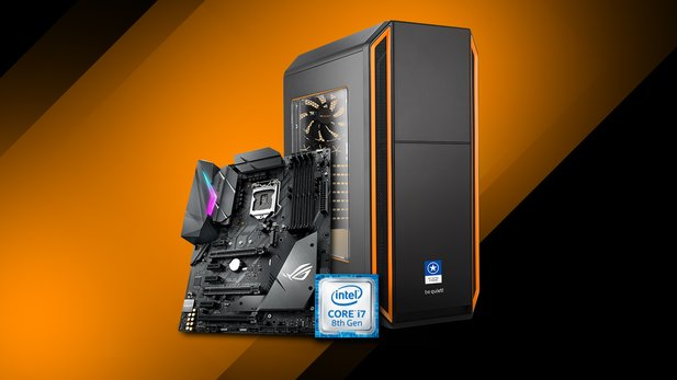 Der ONE GameStar-PC Ultra Xtreme liefert mit neuem Core i7 8700K, ASUS STRIX Z370-F GAMING Mainboard übertakteter ASUS ROG STRIX GeForce GTX 1080 Advanced mit 8 GB extreme Leistung.