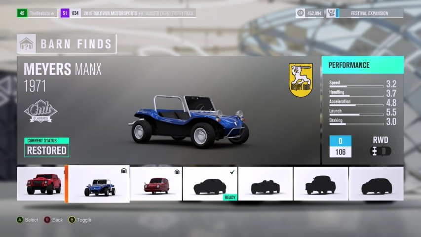 Credit Boost Cars Forza Horizon