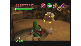 Link faces off against a tube monster.