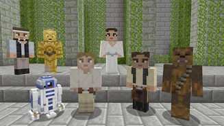 Minecraft Screenshots von dem »Star Wars Classic Skin Pack«