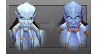 <b>World of Warcraft: Warlords of Draenor</b><br> Neues Charaktermodell der männlichen Draenei