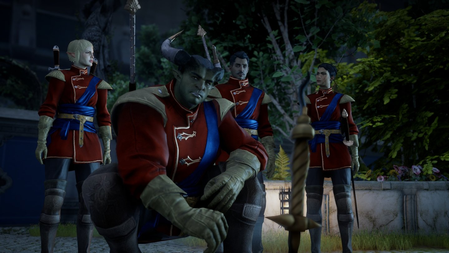 Dragon Age: InquisitionUnser Qunari-Inquisitor ist auf diplomatischer Mission.