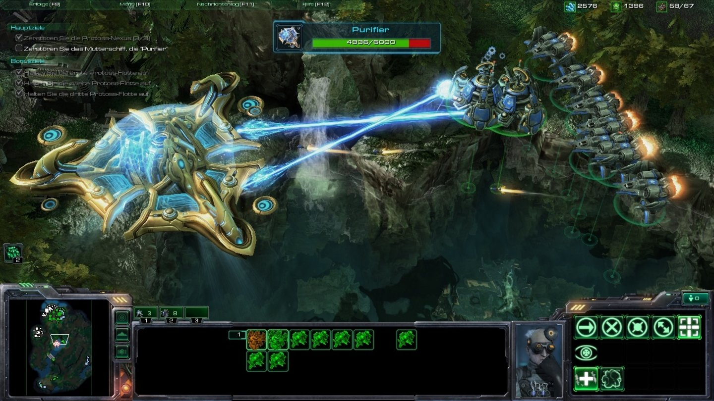 Starcraft 2: Wings of Liberty Wir holen das Super-Mutterschiff vom Himmel.