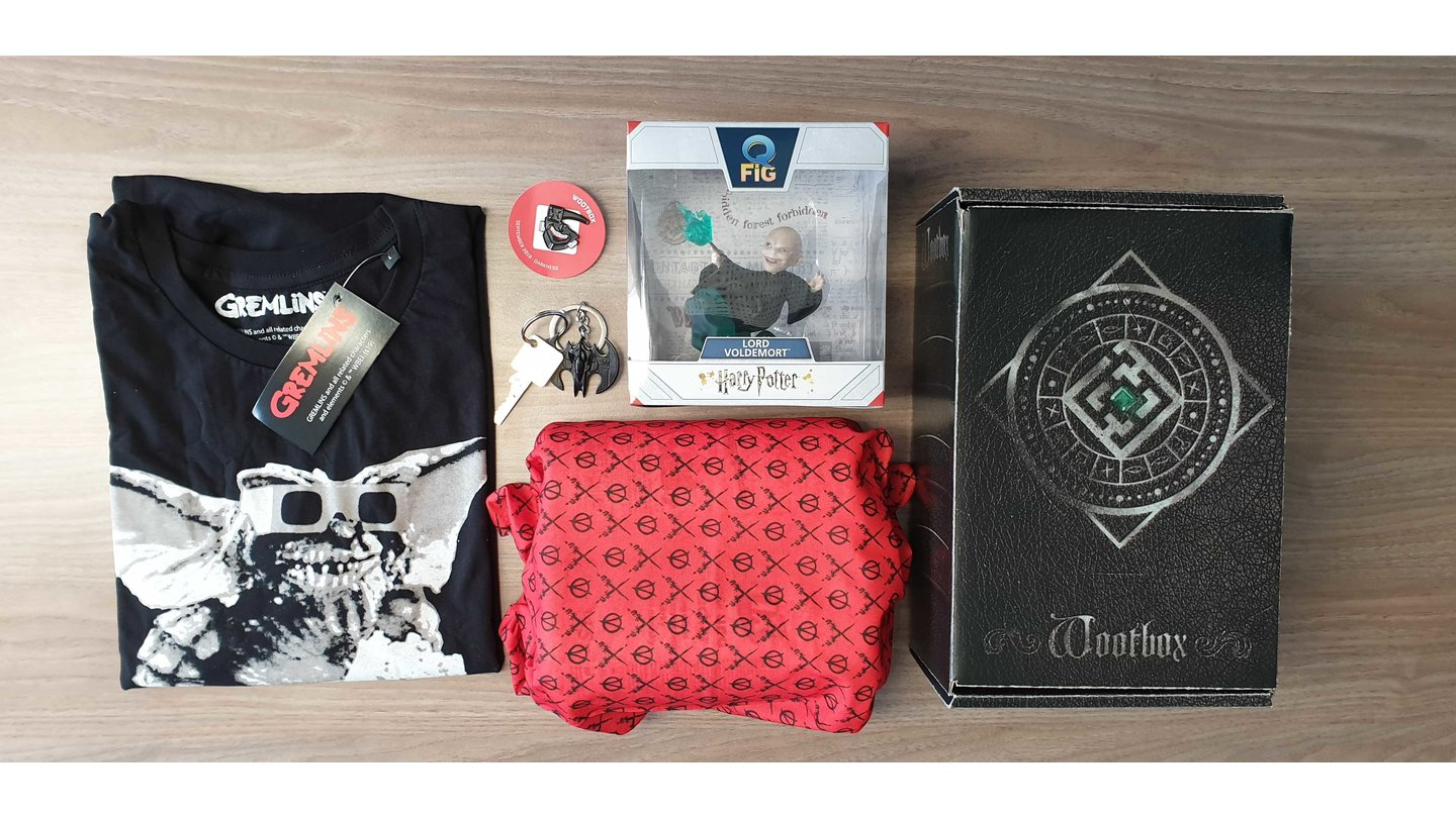 Wootbox Darkness im September - Harry Potter, V wie Vendetta, Gremlins & Batman
