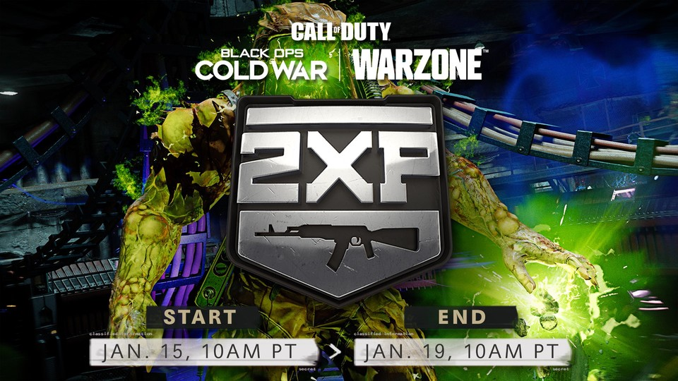 When the update is released, there is a double-weapon XP weekend.