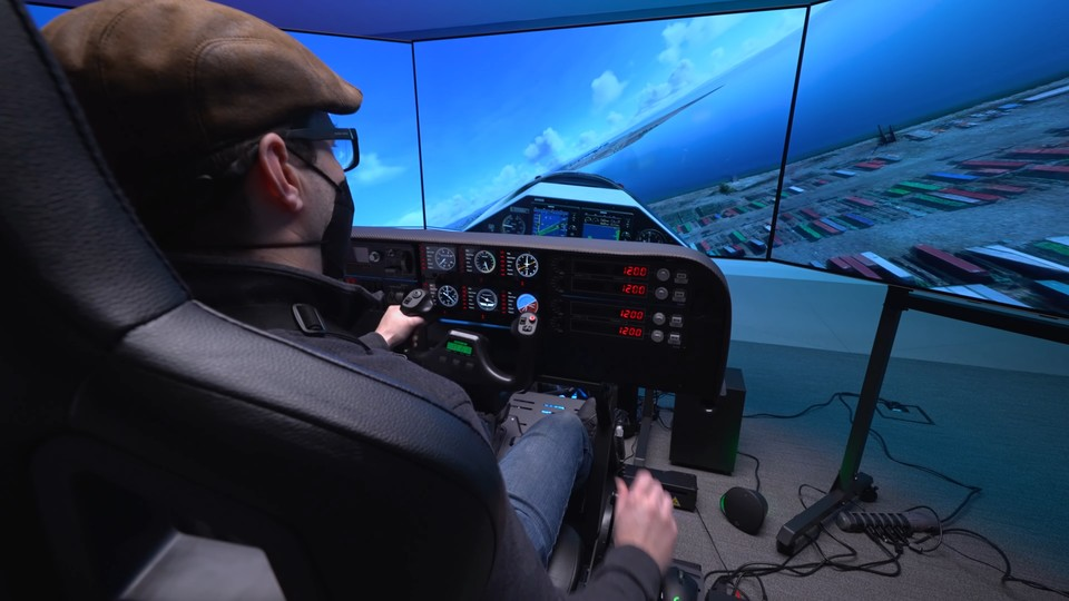 Cockpit-Ansicht mal ganz anders. (Bildquelle: YouTube/Nvidia Geforce)