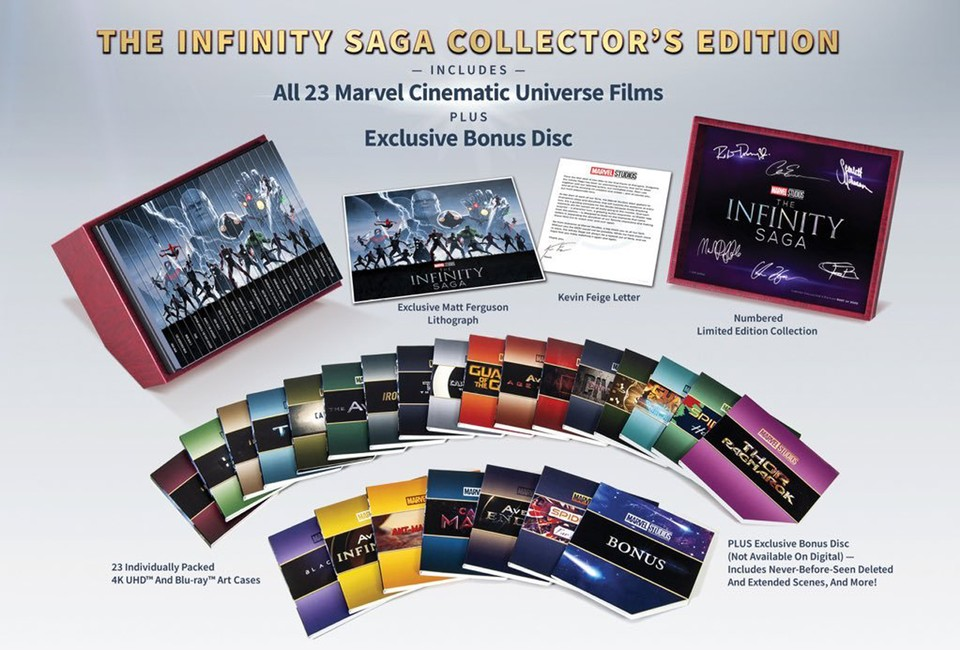 Marvel's Infinity Saga Collector's Edition Blu-ray (c) Disney/Marvel