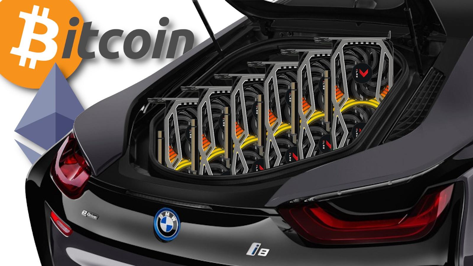 Sechs RTX 3080 im BMW verbaut – Mining-Irrsinn auf die Spitze getrieben