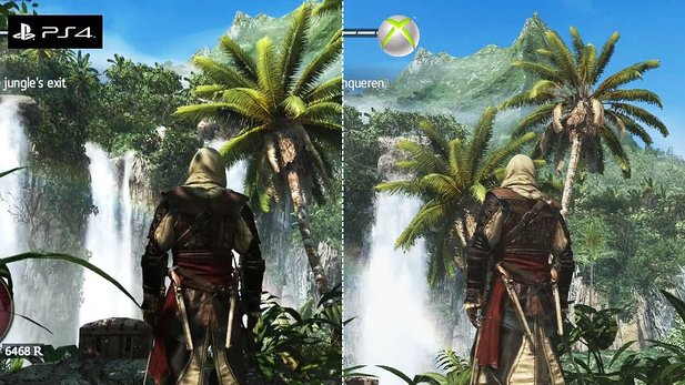 Assassin's Creed 4: Black Flag - Grafik-Vergleich: PS4- vs. Xbox-360-Version