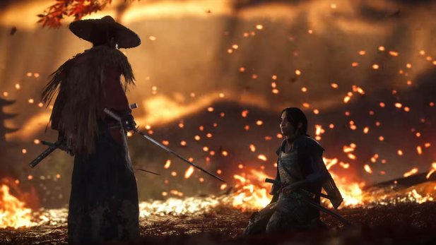 Ghost of Tsushima In Dreams nachgebaut.