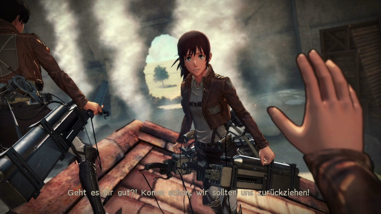 Attack On Titan 2 Im Test Zhes Jger Schnitzel Gamepro Sony Ps4 Die Schicken Videosequenzen Erleben Wir Aus Der Egoperspektive