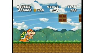 Guide Bowser in classic style levels.