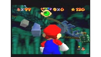The first bowser level. Viewed from below.