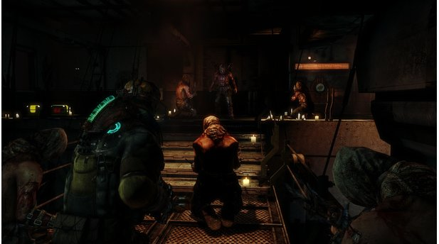 <b>Dead Space 3: Awakened</b><br>An Bord der Terra Nova platzen wir in Zeremonien des Unitology Kults rein.