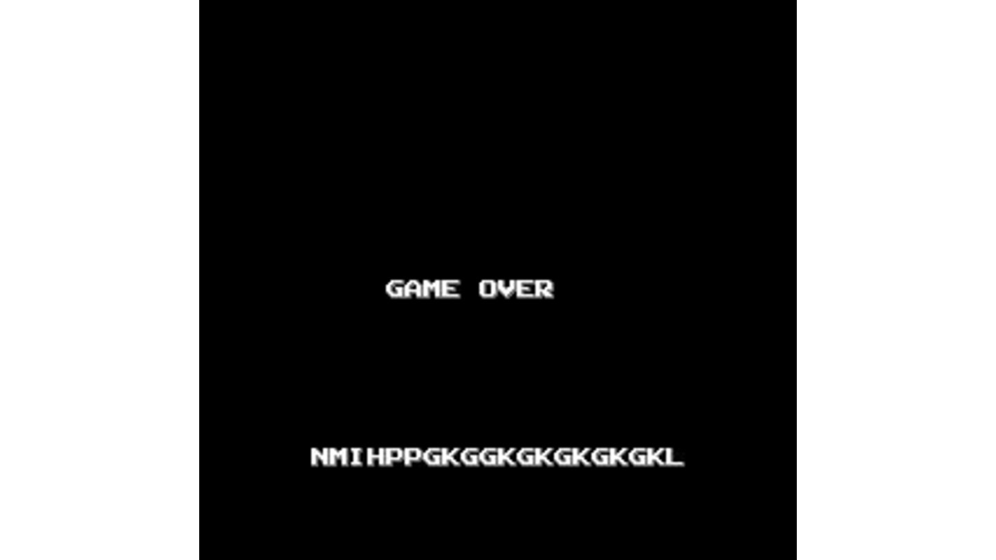 Game Over and Password Screen