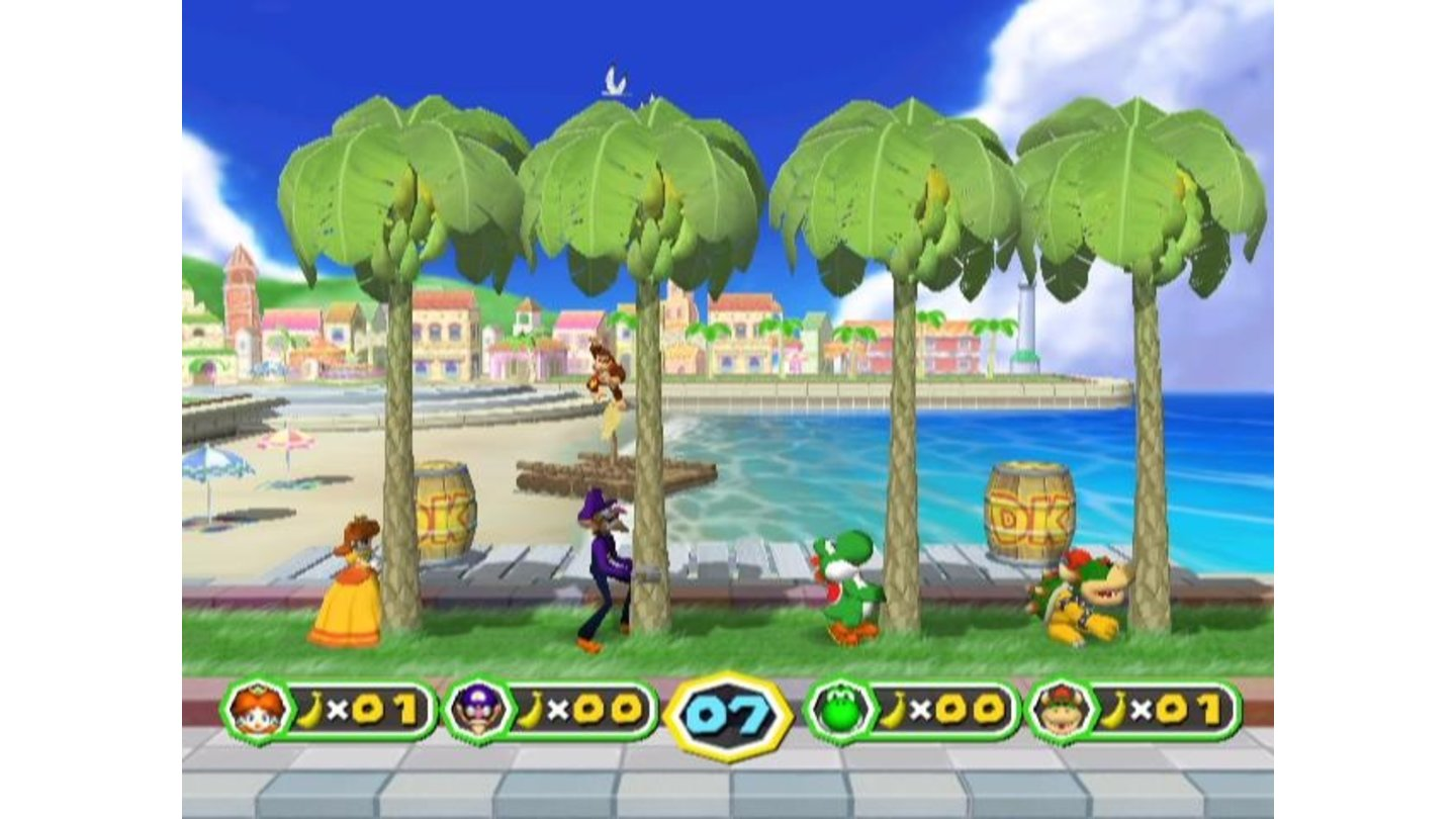DK mini game: shake the trees to collect bananas!