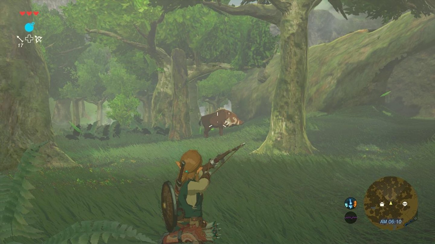 The Legend of Zelda - Breath of the Wild Die Jagd ist ein wichtiges Spielelement.