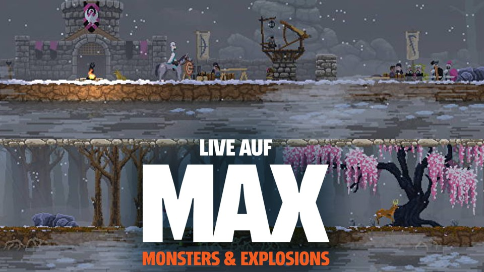 Live auf MAX - Kingdom Two Crowns auf der Xbox One X.