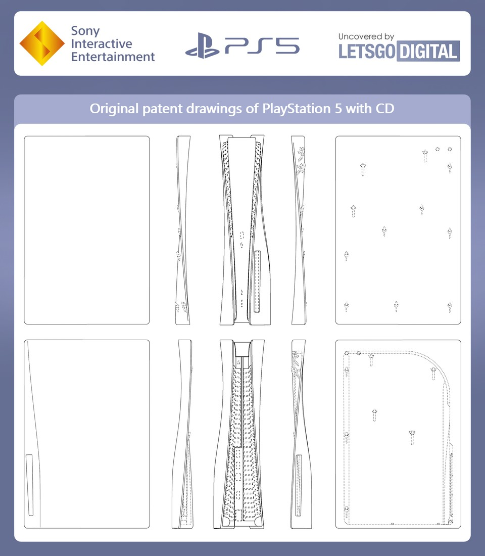 Das Patent zur PlayStation 5 Disc Edition.