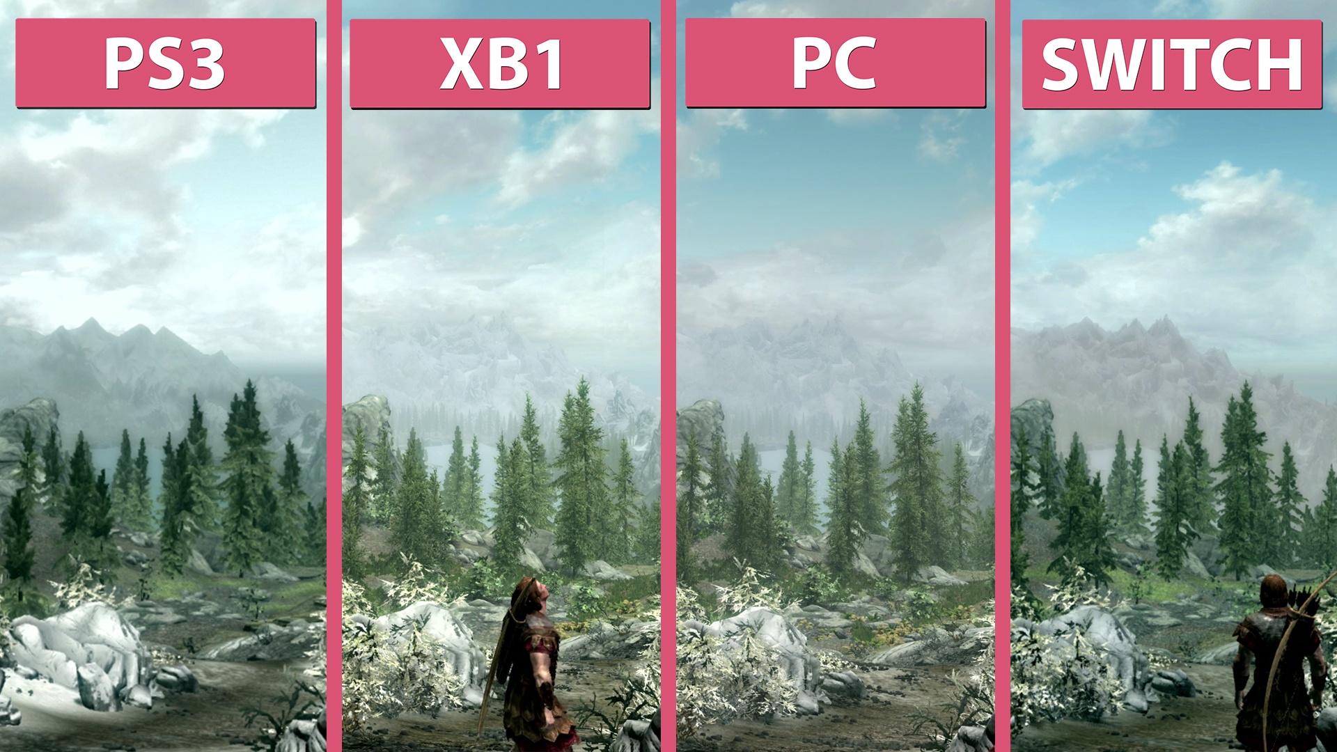 Skyrim Switch Gegen Ps3 Xbox One Und Pc Im Grafikvergleich Gamepro Sony Special Edition Ps4
